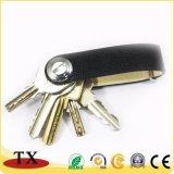 Держатель высокого качества кожаный ключевые и устроитель ключа