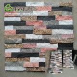 Теплый тон смешанной окраски Quartzite культуры камня скалистых камня по стенам войти