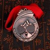리본을%s 가진 금 도금 Kongfu에 의하여 새겨지는 메달