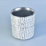 Vaso de cerámica modelado metálico de plata de la vela
