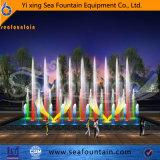 De roestvrije Kleurrijke Fontein van de Muziek van de Lamp Openlucht