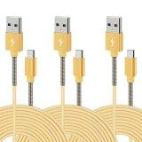para o tipo dados reversíveis trançados duráveis de alta velocidade do LG Q6 do conetor do USB C do cabo 10FT de C jejua o cabo do carregador para a galáxia S8 S8+, Moto Z Z2, LG Q6 G6 G5 V20 N