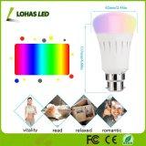 LED 지능적인 전구를 바꾸는 Lohas WiFi A19/A60 9W B22 색깔은 아마존 Alexa로 작동한다