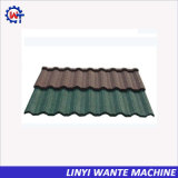 Tipo revestido galvanizado colorido de Nosen da telha de telhado do metal da pedra de aço
