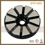 3 disco di lucidatura stridente del diamante magnetico di segmento di pollice 10 per la smerigliatrice del pavimento