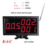 K-4-C con pantalla de K-D4 de 4 teclas Botón de llamada del sistema de llamadas de servicio inalámbrico Restaurante
