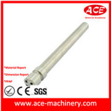 Pezzo meccanico di alluminio di CNC con i luoghi di perforazione