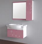 European Hot Sale monté sur un mur Salle de bains en PVC Cabinet Sw-PF0052