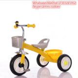 3 Räder färben preiswertes Kind-Plastikdreirad gelb