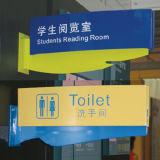 Signage clair fait sur commande d'acrylique de bureau de perspex