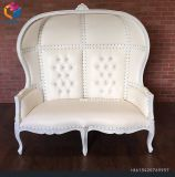나무로 되는 Throne Chair 신부와 신랑 두 배 임금 2인용 의자