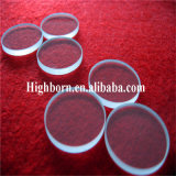 Clair de haute pureté ronde Feuille de verre de quartz silice