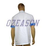 T-shirt de polo de mode de polyester de Wholesale100% pour les hommes, polo de bleu de ciel