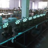 직업적인 단계 RGBW 4in1 LED 이동하는 맨 위 세척 급상승 7X12