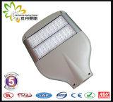 8 anos novos da garantia 130lm/a luz de rua do diodo emissor de luz potência solar de W 100W, lâmpada de rua do diodo emissor de luz, luz da estrada do diodo emissor de luz