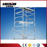 Fáciles modificada para requisitos particulares instalan el andamio móvil de aluminio del marco de la demostración H del asunto