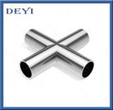 溶接の端が付いている衛生管付属品のステンレス鋼DINの十字