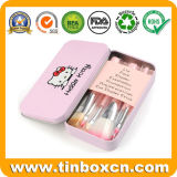 Kind-rechteckiges Metallkosmetische verpackenkasten-Lippenbalsam-Blechdose