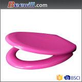 Blauer Weiche-Abschluss-Harnstoff farbiger Toiletten-Sitzdeckel