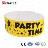 Pulsera promocional de RFID Tyvek para los acontecimientos