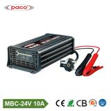 Caricatore commerciale dell'automobile della batteria al piombo 24V 10A della visualizzazione di LED di assicurazione