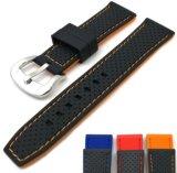 El doble de silicona de color de alta calidad Correa de Watchband el 20 de 22 a 24 mm de sustitución de Reloj Pulsera Correa