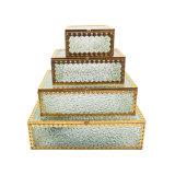 4개의 층을%s 가진 주문 유리제 까만 보석 전시 또는 선물 저장 상자