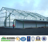 Modernes Fertighaus steuert grünes Haus-Stahlgymnastik automatisch an