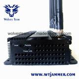 3G/4G ajustável todo o jammer do sinal do telefone de pilha & jammer do GPS
