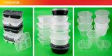 Ciotola a gettare della casella del pasto dei contenitori di imballaggio di plastica degli alimenti a rapida preparazione del commestibile