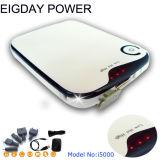 Pacote de Alimentação Portátil de bateria externa para telefone celular, PDA, iPod, I5000