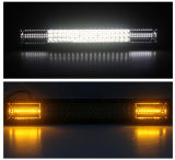 136W 20 polegadas 8000lm três Strobe de Linha Lateral da Barra de luz LED de Montagem e Suporte Inferior Disponível off road Jeep 4X4 Barra de LED