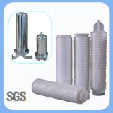 Filtro da acqua pieghettato membrana a più strati dai 0.1 micron per filtrazione di industria pre