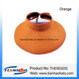 Sombrero de papel del visera de Sun de la paja de la playa para la promoción