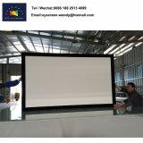 16: Schermo di film ritrattabile 9, schermo fissato al muro del proiettore