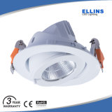 Rebajado de aluminio de fundición de 40W Downlight LED ajustable COB