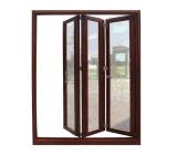 Двойная стеклянная дверь дверей складчатости Alumium нутряная