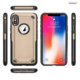 Caja a prueba de choques de lujo in-1 de la PC 2 de TPU para el iPhone 8, armadura del caso para el iPhone X