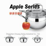 La batterie de cuisine de bac de ragoût a placé 18/10 modèle en acier inoxydable d'Apple de Wok/carter
