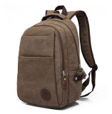 Sac extérieur occasionnel d'ordinateur de sac de course de cru de sac mâle américain et européen de sac d'épaule de double de la toile des hommes neufs du café X1