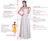 高いカラー不足分の袖のプロムの花嫁のウェディングドレスのガウン
