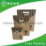 Saco de empacotamento personalizado do presente do papel do chá da impressão 4c