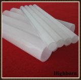 Tubo blanco lechoso del tubo de cristal de cuarzo para la lámpara de calefacción