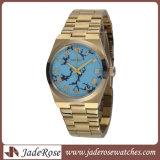 新式のステンレス鋼の防水の男性用水晶腕時計