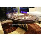 Mármol 5 Satr moderno vestíbulo del hotel mobiliario una mesa de café con acero inoxidable (KL C05).