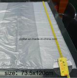 Refuerzo lateral LDPE transparente lateral grande bolsa de ropa