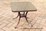 Outdoor Patio Garden Lawn Cast Alumnim Chaise Sun Lounge Furniture Chaise avec Wheels Side Tea Table