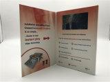 Cartão de felicitações do ecrã LCD com vídeo