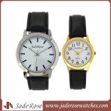 여자 석영 다이아몬드 손목 시계를 위한 새로운 유행 가죽 팔찌 시계