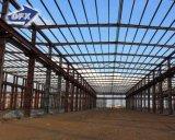 Hangar/oficina/armazém fáceis elevados da construção de aço da configuração de Qualtity com guindaste